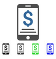 dollar mobile payment flat icon vector image