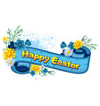 Easter vintage background vector image vector image