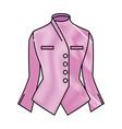 elegant blouse for women vector image vector image