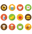 Food icons collection vector image vector image