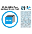 Free Rounded Icon With Medical Bonus vector image