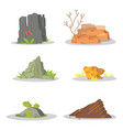 garden rocks and stones single or piled for damage vector image vector image
