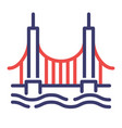 golden gate bridge flatoutline vector image