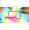 gradient fluid background dynamic layout vector image vector image