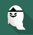 halloween cute ghost vector image