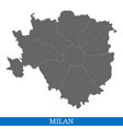 high quality map city of italy vector image