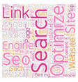 How To Fine Tune Your Organic Seo Techniques text vector image vector image
