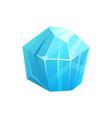 ice crystal rock iceberg frozen snow blue glass vector image