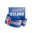 iceland flag on a white vector image