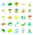 isle icons set cartoon style vector image vector image