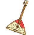 isolated wooden balalaika vector image vector image