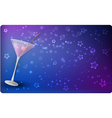 martini glass banner vector image vector image