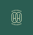 monogram kk vector image