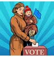 Mother and child women vote in elections vector image vector image