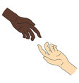 multinational help race equality helping hand vector image vector image