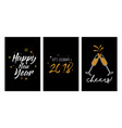 new year party invitation template set new year vector image vector image