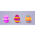 Painting Easter eggs vector image