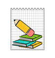 paper with a sketch of books back to school vector image