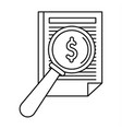 payment paper icon outline style vector image