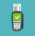 payment terminal flat vector image vector image