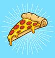 pizza cartoon vector image vector image