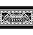 polynesian tribal seamless pattern vector image vector image