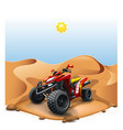 quad bike on deserted hill vector image