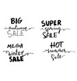 sale hand drawn word tag vector image vector image