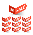 Sale percent sign vector image vector image