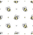 seamless pattern bees vector image vector image