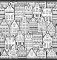 seamless pattern line style holland old houses vector image vector image