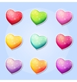 set hearts for a computer game valentines day vector image vector image