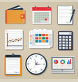 set of business elements of marketing reporting vector image vector image