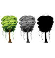 set of tree design vector image vector image