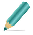 simple pencil for drawing green vector image