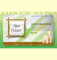 spa center landing page website template vector image