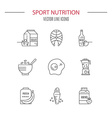 sport nutrition vector image vector image
