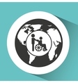 symbol icon disabled wheel chair vector image vector image