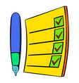 to do list icon cartoon vector image vector image