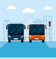 urban transport service vector image