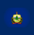 vermont state flag vector image vector image