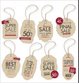 vintage style sale tags design collection 1 vector image vector image