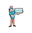 Vote Democrat Donkey Mascot Standing Cartoon vector image