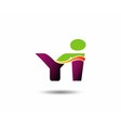 Yi Logo vector image vector image