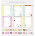 Cute Daily Note Template vector image