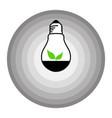 leaf bulb logo in shades of gray circle vector image