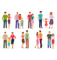 happy family people figures parenting parents vector image