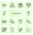 14 community icons vector image vector image
