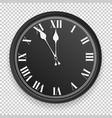 abstract clock icon vector image