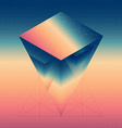 Abstract isometric prism with the reflection of vector image